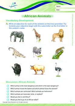 Animals - African Animals: Animals in Africa - Grade 5