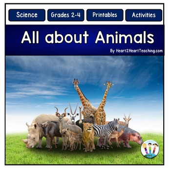 Animals: All About Carnivores, Herbivores, and Omnivores Activity Pack
