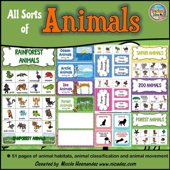 Animal Characteristics Sort (by Habitat, Movement and More!)