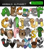 Animals Alphabet Clipart Letters