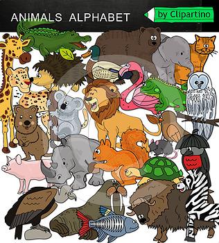 Animals Alphabet Clip Art