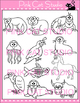 Clip Art Animals Alphabet Add-On for the Mega Value Pack  - Commercial Use Okay
