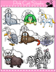 Animals Alphabet Clip Art Set - Beginning Sounds Clip Art
