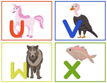 Animals Alphabet Flashcards