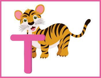 Animals Alphabet Flashcards; Kindergarten; Preschool; Homeschool; Literacy