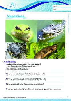 Animals - Amphibians - Grade 9
