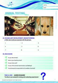 Animals - Animal Testing - Grade 9