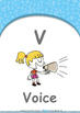 Animals - Animal Colours : Letter V : Voice - Nursery (2 y