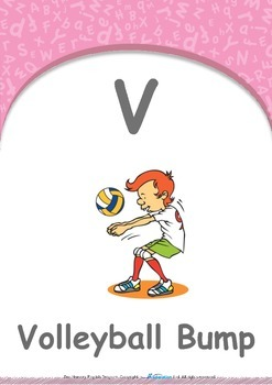 Animals - Animal Colours : Letter V : Volleyball - Pre-Nursery (1 year old)