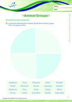 Animals - Animal Groups: Animal Groups - Grade 5