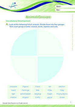 Animals - Animal Groups: Names of Animal Groups - Grade 4