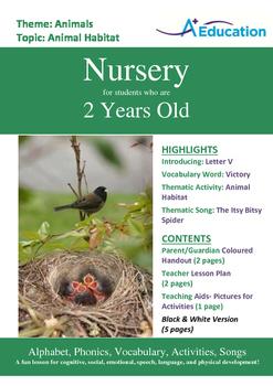 Animals - Animal Habitat : Letter V : Victory - Nursery (2