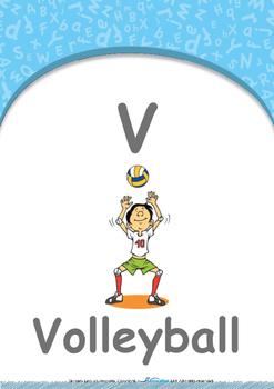 Animals - Animal Habitat : Letter V : Volleyball - Nursery (2 years old)