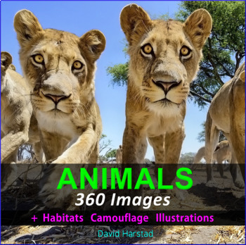Animals: Animal Habitats, Adaptations, Classification - 360 Clipart Posters