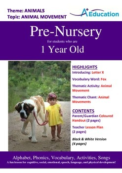 Animals - Animal Movement : Letter X : Fox - Pre-Nursery (1 year old)