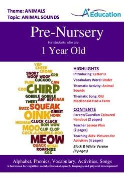 Animals - Animal Sounds : Letter U : Under - Pre-Nursery (1 year old)