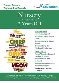 Animals - Animal Sounds : Letter U : Upside Down - Nursery