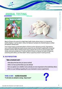 Animals - Animal Testing - Grade 11