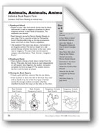 Animals, Animals, Animals (Book Report Form)