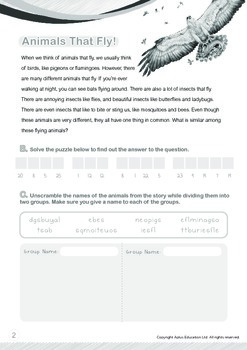 Animals - Animals That Fly (II): Flying In The Sky (II) - Grade 2