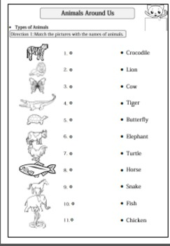 animals around us worksheet for g 1 2 by smiley teacher tpt. Black Bedroom Furniture Sets. Home Design Ideas