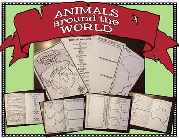Animals Around the World: Graphic Organizer/Booklet for Animals & Ecosystems