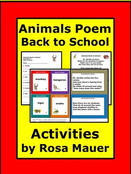 Animals Back to School Poetry