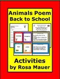Animals Back to School Poetry