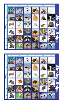 Animals Battleship Board Game