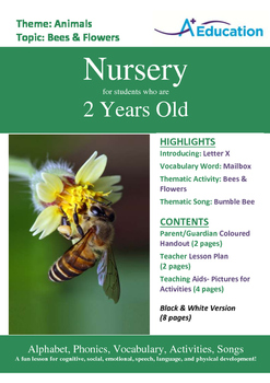 Animals - Bees & Flowers : Letter X : Mailbox - Nursery (2 years old)