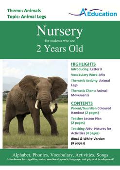 Animals - Animal Legs : Letter X : Mix - Nursery (2 years old)