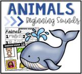 Animals Beginning Sounds Clip Cards