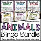 Animals Bingo Bundle with Six Games