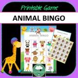 Animals Bingo - Cute Animal Themed Bingo Game for Preschool & K-2 kids