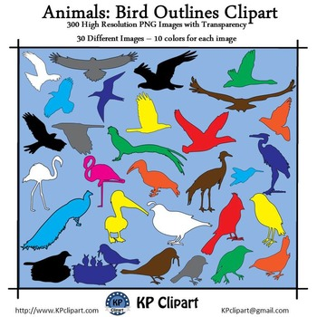 Animals Bird Outlines Clipart