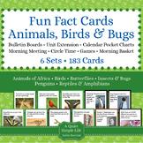 Animals, Birds, & Bugs Fun Fact Cards BUNDLE - Animal Unit, Bird Unit, Bug Unit
