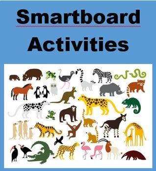 Animals Blockbuster game for Smartboard