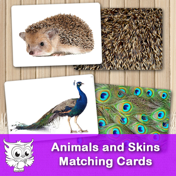 Animals and Skins Matching Cards