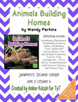 Animals Build Homes Supplemental Activities 2nd Grade Jour