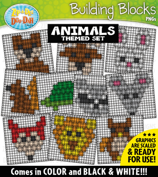 Animals Building Blocks Clipart {Zip-A-Dee-Doo-Dah Designs}