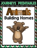 Animals Building Homes Worksheets Journeys 2nd Grade