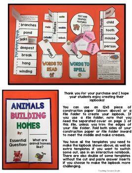 Animals Building Homes Journeys 2nd Grade
