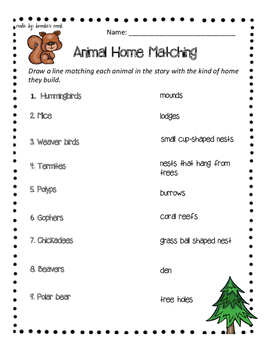 animals building homes journeys 2nd grade unit 1 lesson 6 by brooke 39 s nook. Black Bedroom Furniture Sets. Home Design Ideas