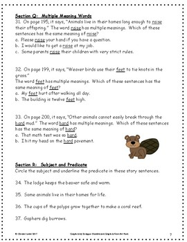 Animals Building Homes ~ Language Arts Workbook ~ 2nd Grade ~ HMH Journeys
