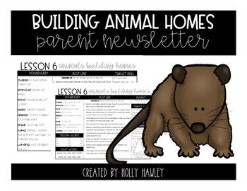 Animals Building Homes Newsletter
