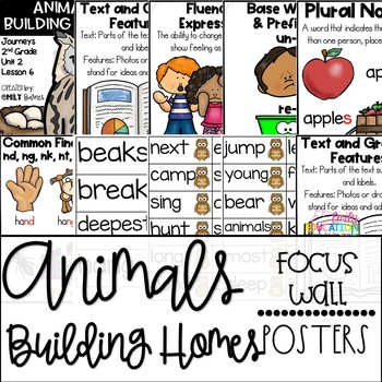 Animals Building Homes Journeys 2nd grade Unit 2 Lesson 6