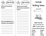 Animals Building Homes Trifold - Journeys 2nd Grade Unit 2 Week 1 (2014, 2017)