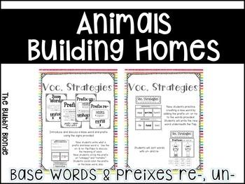 Animals Building Homes Unit 2, Lesson 6- Journeys Print & Go