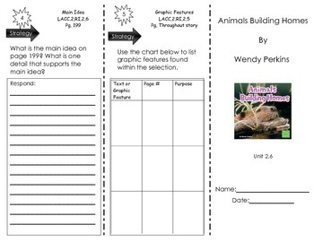 Animals Building Homes by Wendy Perkins - Journeys Common Core