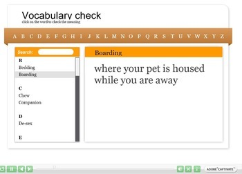 Animals (Caring for pets) Interactive Resource 3